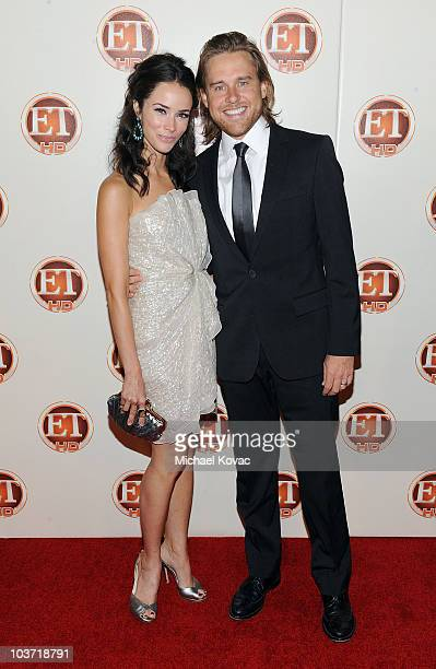 Actress Abigail Spencer and husband Andrew Pruett arrive at Entertainment Tonight's 62nd Annual EMMY After Party at Vibiana on August 29 2010 in Los...