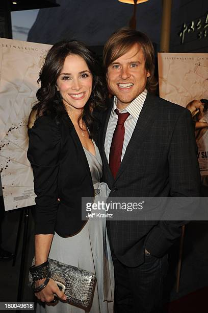 Actress Abigail Spencer and husband Andrew Pruett attend the In My Sleep Los Angeles premiere at the ArcLight Cinemas on April 15 2010 in Hollywood...