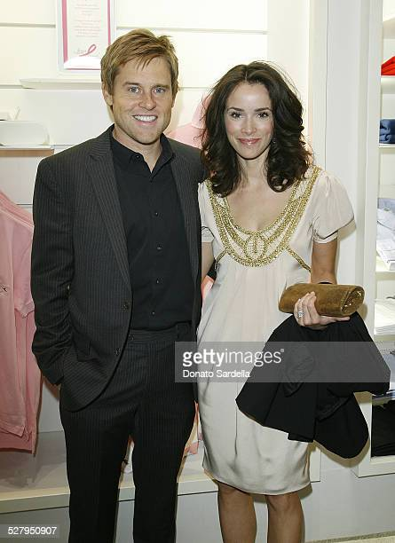 Actress Abigail Spencer and husband Andrew Pruett attend Vogue and Lacoste Host Benefit for BCRF at Lacoste Boutique on October 5 2009 in Los Angeles...