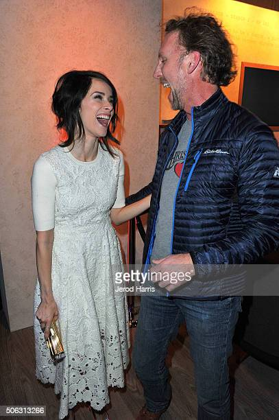 Actress Abigail Spencer and Jayson Warner Smith attends the The Hollywood Reporter and SundanceTV's 2016 Sundance Film Festival Kickoff Party on...