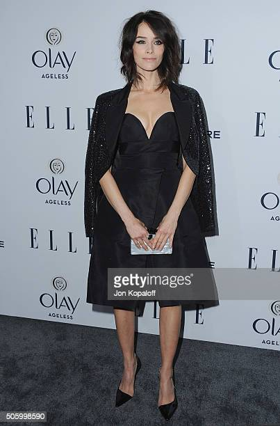 Actress Abigail Spencer arrives at ELLE's 6th Annual Women In Television Dinner at Sunset Tower Hotel on January 20 2016 in West Hollywood California