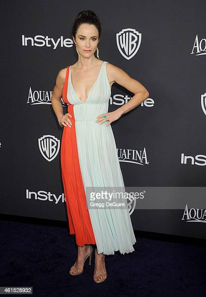 Actress Abigail Spencer arrives at the 16th Annual Warner Bros And InStyle PostGolden Globe Party at The Beverly Hilton Hotel on January 11 2015 in...