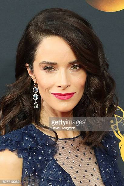 Actress Abigail Spencer arrives at the 68th Annual Primetime Emmy Awards at the Microsoft Theater on September 18 2016 in Los Angeles California