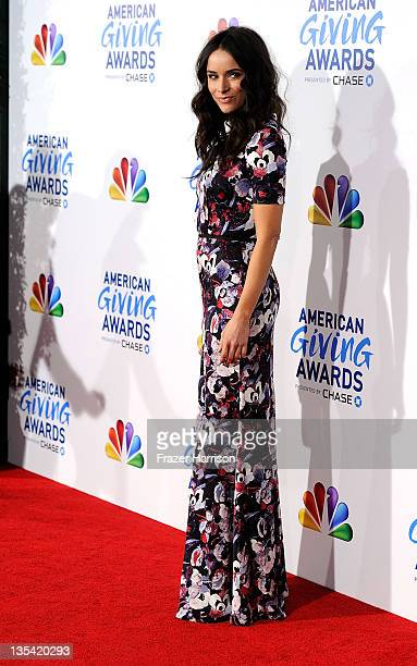 Actress Abigail Spencer arrives at the American Giving Awards Presented By Chase at the Dorothy Chandler Pavilion on December 9 2011 in Los Angeles...