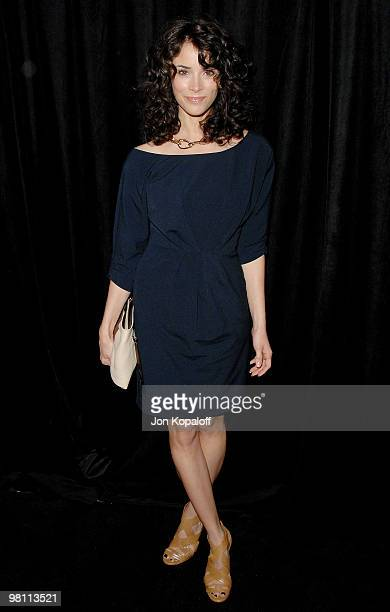 Actress Abigail Spencer arrives at the DIC/InStyle's 9th Annual Awards Season Diamond Fashion Show Preview at Beverly Hills Hotel on January 14 2010...
