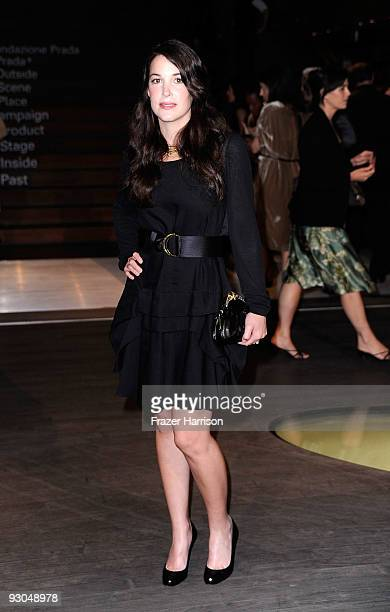 Actress Abigail Spencer arrives at the Prada Book Launch at the Prada Store Rodeo Drive on November 13 2009 in Beverly Hills California