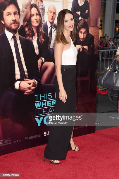 Actress Abigail Spencer arrives at the This Is Where I Leave You premiere at TCL Chinese Theatre on September 15 2014 in Hollywood California