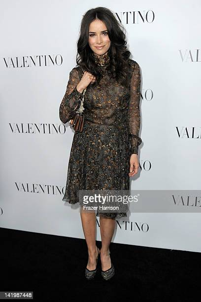 Actress Abigail Spencer arrives at the Valentino Rodeo Drive Flagship store opening on March 27 2012 in Beverly Hills California