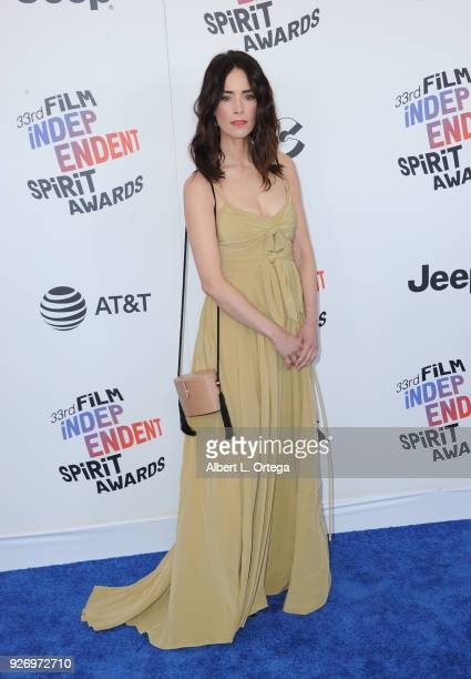 Actress Abigail Spencer arrives for the 2018 Film Independent Spirit Awards on March 3, 2018 in Santa Monica, California.