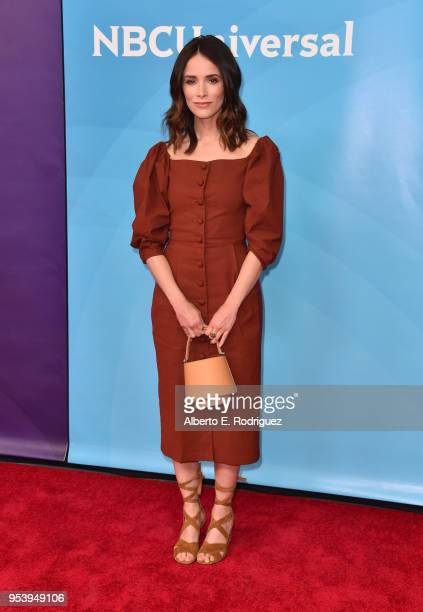 Actress Abigail Spencer attends NBCUniversal's Summer Press Day 2018 at The Universal Studios Backlot on May 2 2018 in Universal City California