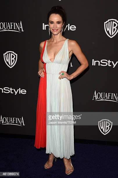 Actress Abigail Spencer attends the 2015 InStyle And Warner Bros 72nd Annual Golden Globe Awards PostParty at The Beverly Hilton Hotel on January 11...