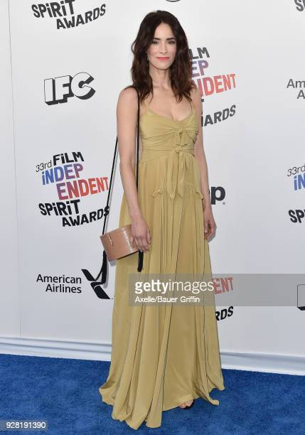 Actress Abigail Spencer attends the 2018 Film Independent Spirit Awards on March 3, 2018 in Santa Monica, California.