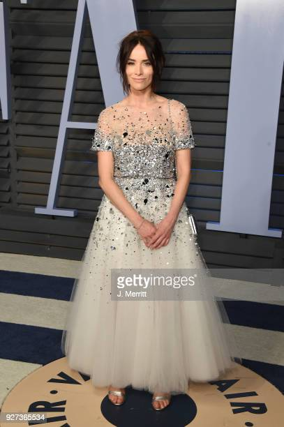 Actress Abigail Spencer attends the 2018 Vanity Fair Oscar Party hosted by Radhika Jones at the Wallis Annenberg Center for the Performing Arts on...