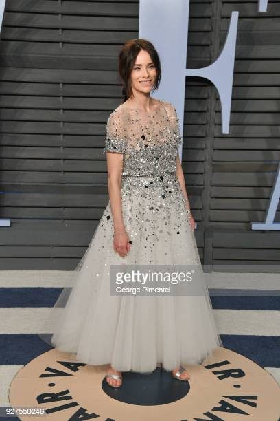 Actress Abigail Spencer attends the 2018 Vanity Fair Oscar Party hosted by Radhika Jones at Wallis Annenberg Center for the Performing Arts on March...