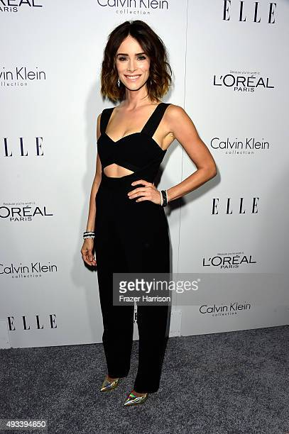 Actress Abigail Spencer attends the 22nd Annual ELLE Women in Hollywood Awards presented by Calvin Klein Collection L'Oréal Paris and David Yurman at...