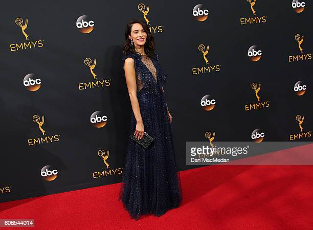 Actress Abigail Spencer attends the 68th Annual Primetime Emmy Awards at Microsoft Theater on September 18 2016 in Los Angeles California