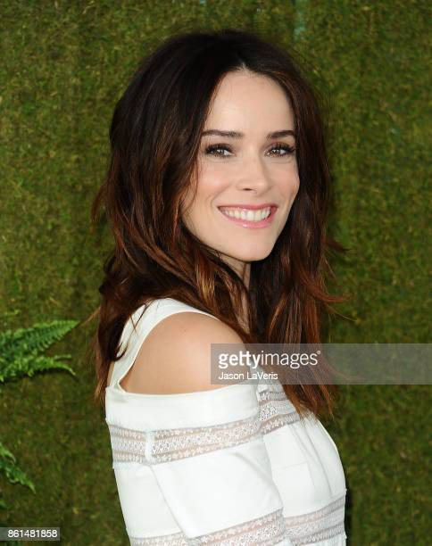 Actress Abigail Spencer attends the 8th annual Veuve Clicquot Polo Classic at Will Rogers State Historic Park on October 14 2017 in Pacific Palisades...