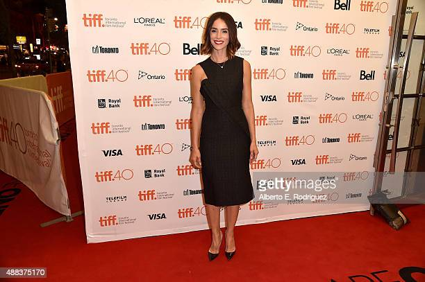 Actress Abigail Spencer attends the 'Anomalisa' photo call during the 2015 Toronto International Film Festival at the Princess of Wales Theatre on...