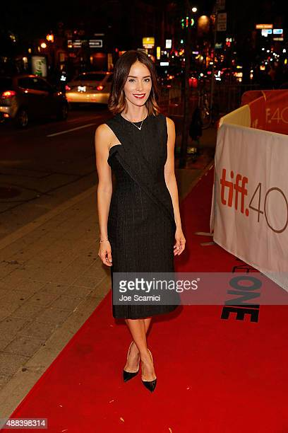Actress Abigail Spencer attends the 'Anomalisa' photo call during the 2015 Toronto International Film Festival at Princess of Wales Theatre on...