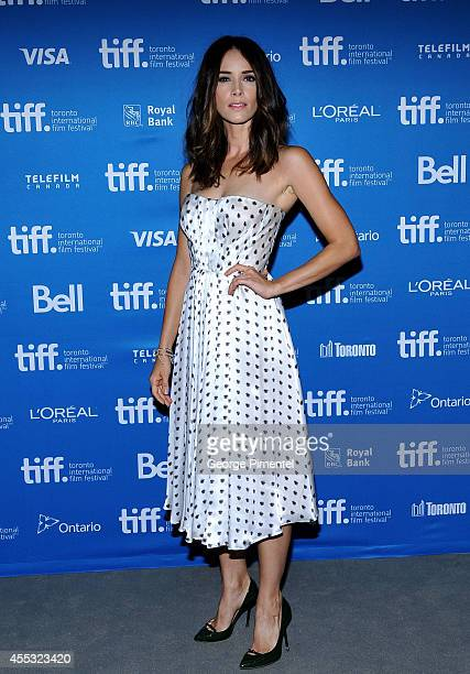 Actress Abigail Spencer attends 'The Forger' Press Conference during the 2014 Toronto International Film Festival at TIFF Bell Lightbox on September...