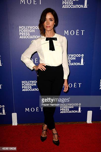 Actress Abigail Spencer attends the Hollywood Foreign Press Association's Grants Banquet at The Beverly Hilton Hotel on August 14 2014 in Beverly...