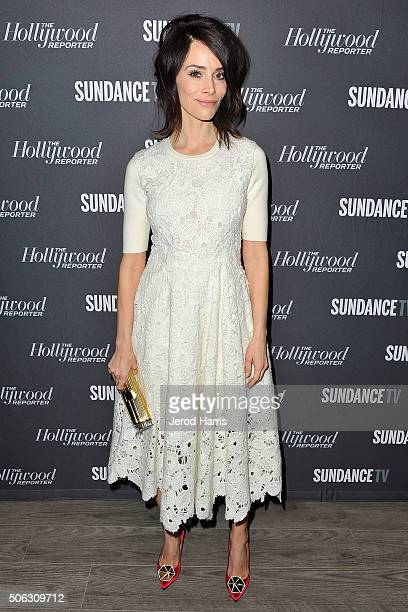 Actress Abigail Spencer attends The Hollywood Reporter and SundanceTV's Sundance Film Festival kickoff party at the SundanceTV Headquarters on...