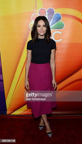 Actress Abigail Spencer attends the NBCUniversal press day during the 2016 Summer TCA Tour at The Beverly Hilton Hotel on August 2 2016 in Beverly...