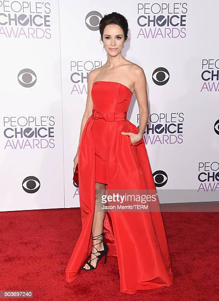 Actress Abigail Spencer attends the People's Choice Awards 2016 at Microsoft Theater on January 6 2016 in Los Angeles California