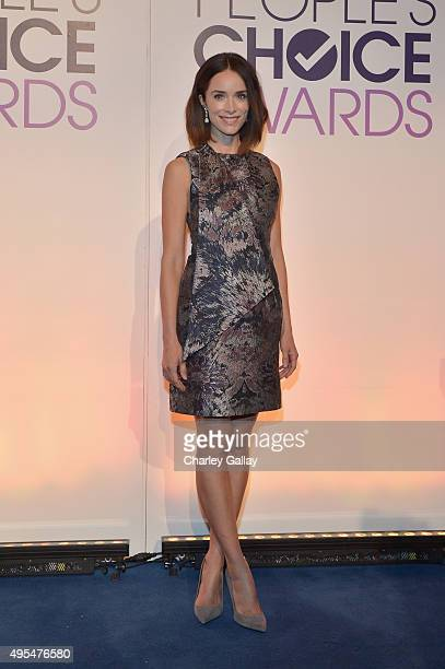 Actress Abigail Spencer attends the People's Choice Awards 2016 nominations press conference at The Paley Center for Media on November 3 2015 in...