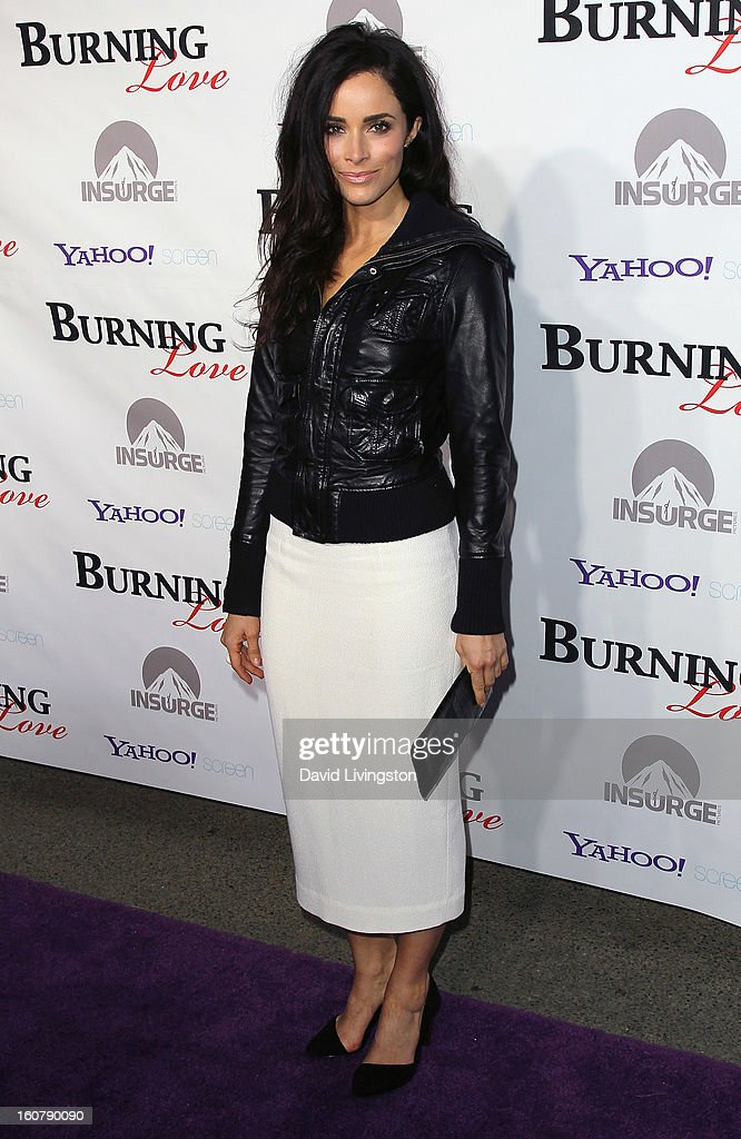 Actress Abigail Spencer attends the premiere of 'Burning Love' Season 2 at the Paramount Theater on the Paramount Studios lot on February 5, 2013 in Hollywood, California.