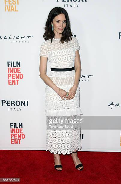 Actress Abigail Spencer attends the premiere of 'The Sweet Life' during the 2016 Los Angeles Film Festival at Arclight Cinemas Culver City on June 7...
