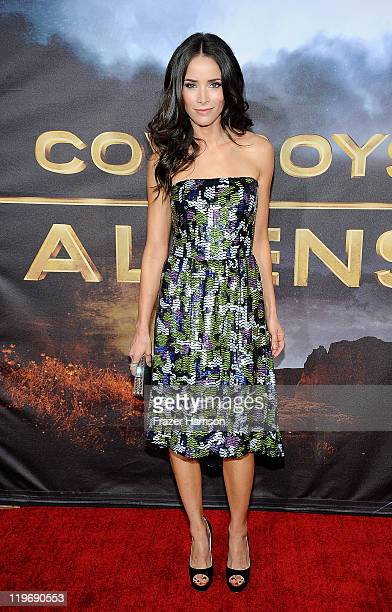 Actress Abigail Spencer attends the Premiere of Universal Pictures 'Cowboys Aliens' during ComicCon 2011 at San Diego Civic Theatre on July 23 2011...