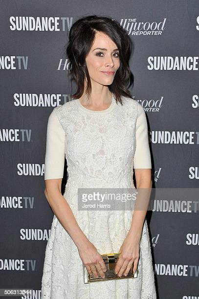 Actress Abigail Spencer attends the The Hollywood Reporter and SundanceTV's 2016 Sundance Film Festival Kickoff Party on January 22 2016 in Park City...
