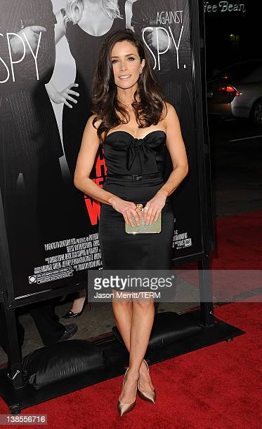 Actress Abigail Spencer attends the 'This Means War' Los Angeles premiere held at Grauman's Chinese Theatre on February 8 2012 in Hollywood California