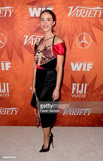 Actress Abigail Spencer attends the Variety and Women in Film Annual PreEmmy Celebration at Gracias Madre on September 18 2015 in West Hollywood...