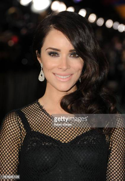 Actress Abigail Spencer attends the world premiere of Walt Disney Pictures' Oz The Great And Powerful at the El Capitan Theatre on February 13 2013...