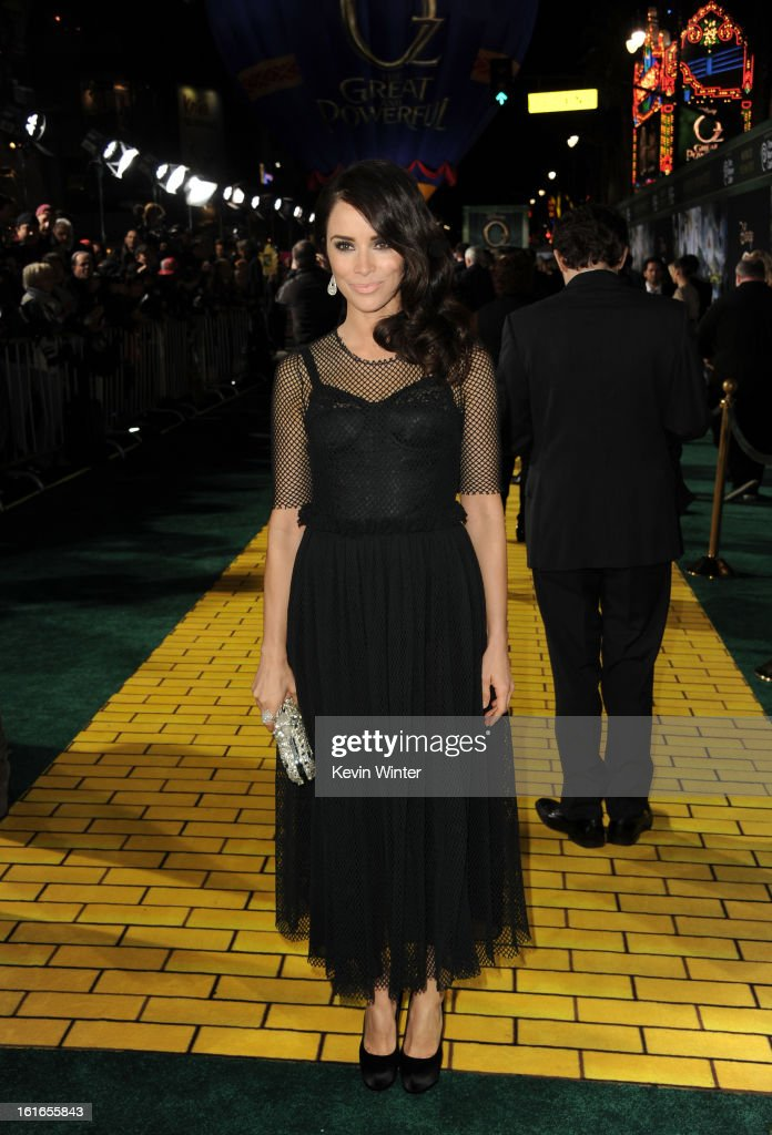 Actress Abigail Spencer attends the world premiere of Walt Disney Pictures' 'Oz The Great And Powerful' at the El Capitan Theatre on February 13, 2013 in Hollywood, California.
