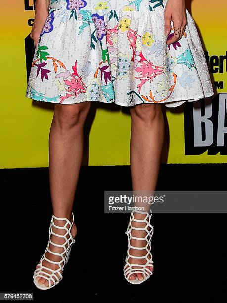 Actress Abigail Spencer fashion/shoe detail attends Entertainment Weekly's ComicCon Bash held at Float Hard Rock Hotel San Diego on July 23 2016 in...