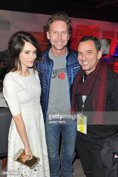 Actress Abigail Spencer, Jayson Warner Smith and Christian Vesper attends the The Hollywood Reporter and SundanceTV's 2016 Sundance Film Festival...