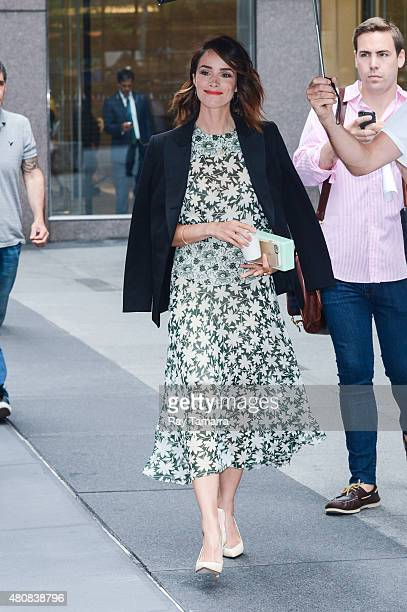 Actress Abigail Spencer leaves the Sirius XM Studios on July 15 2015 in New York City