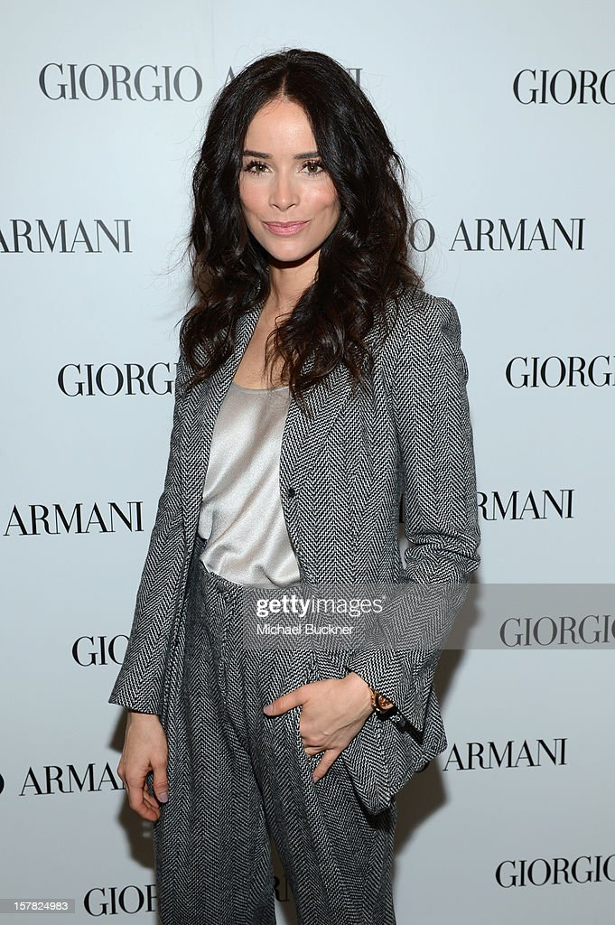 Actress Abigail Spencer, wearing Giorgio Armani attends the Giorgio Armani Beauty Luncheon on December 6, 2012 in Beverly Hills, California.