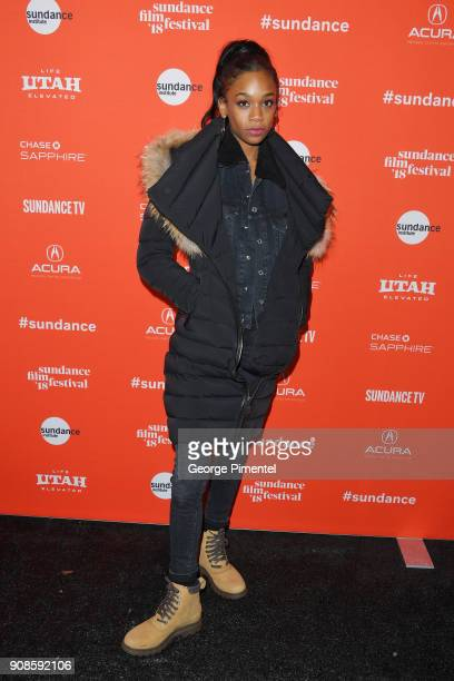 Actress Abra attends the 'Assassination Nation' Premiere during the 2018 Sundance Film Festival at Park City Library on January 21 2018 in Park City...