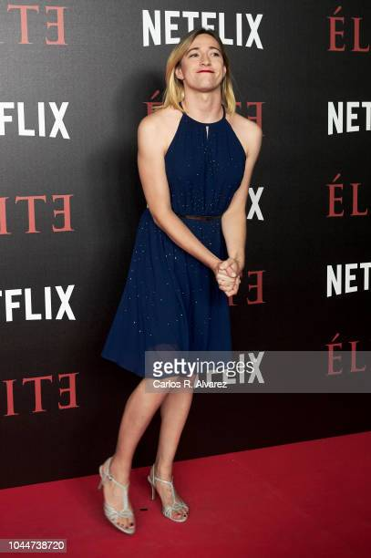 Actress Abril Zamora attends 'Elite' premiere at Reina Sofia Museum on October 2 2018 in Madrid Spain