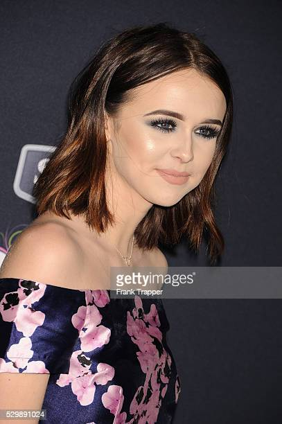 Actress Acacia Brinley arrives at the world premiere of 'Pitch Perfect 2' held at the Nokia Theater LA Live