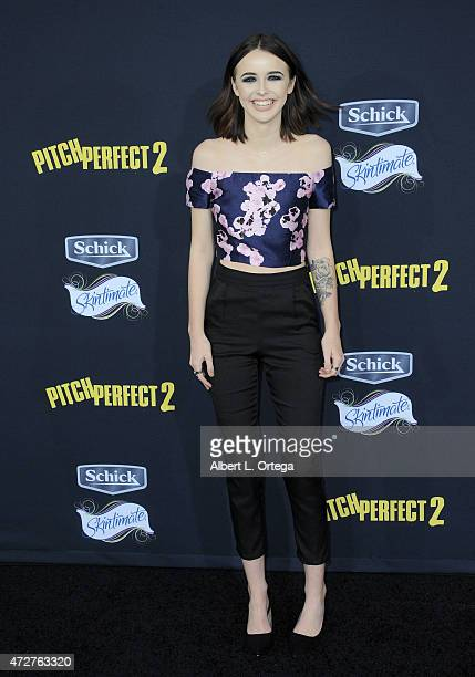 Actress Acacia Brinley arrives for the premiere Of Universal Pictures' 'Pitch Perfect 2' held at Nokia Theatre LA Live on May 8 2015 in Los Angeles...