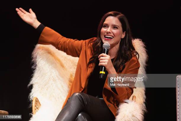 Actress, Activist, Director and Producer Sophia Bush speaks on stage during 'Together Live' at The Moore Theater on October 12, 2019 in Seattle,...