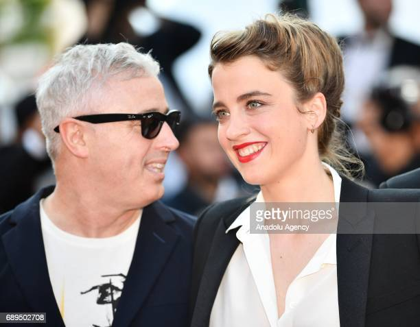 Actress Actress Adele Haenel and French director Robin Campillo arrive for the Closing Awards Ceremony of the 70th annual Cannes Film Festival in...