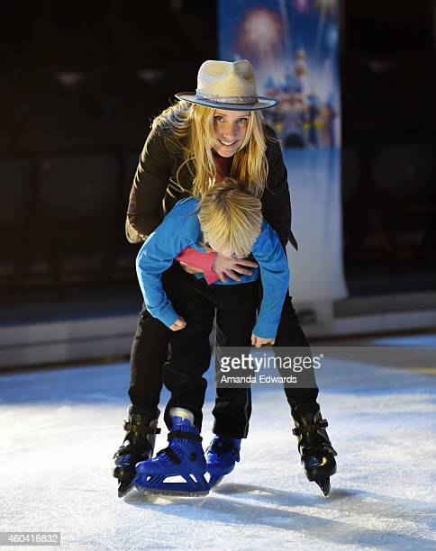 Actress Actress Anne Heche and her son Atlas Tupper attend the Disney On Ice Presents Let's Celebrate event at Staples Center on December 11 2014 in...