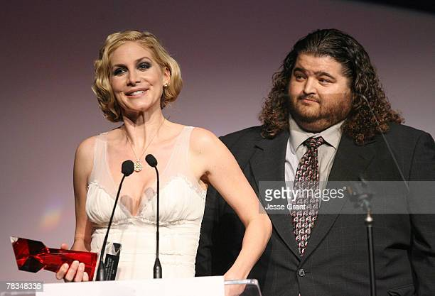 Actress Actress Elizabeth Mitchell and actor Jorge Garccia on stage at the 7th annual Hollywood Life Breakthrough of the Year Awards at the Music Box...