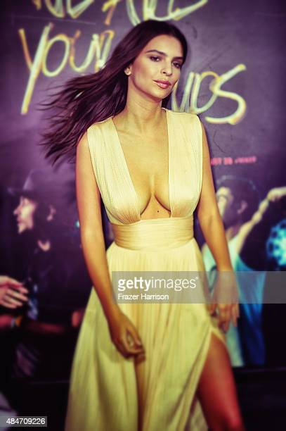 Actress Actress Emily Ratajkowski arrives at the Premiere Of Warner Bros Pictures' 'We Are Your Friends' at TCL Chinese Theatre on August 20 2015 in...